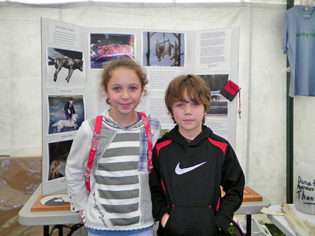 Two young visitors who also donated to MWC at the fair